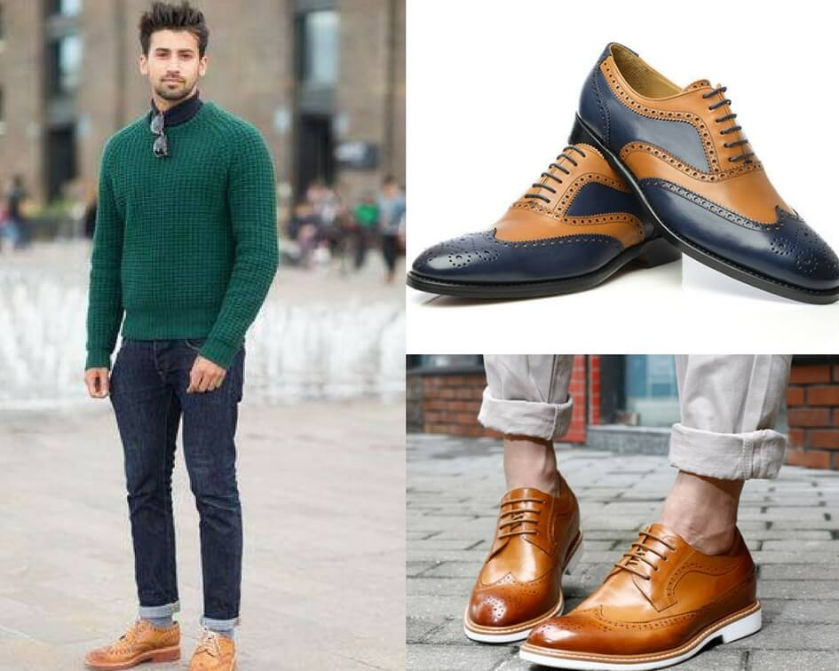 Brogue shoes for men online, Different types of brogue shoes for men