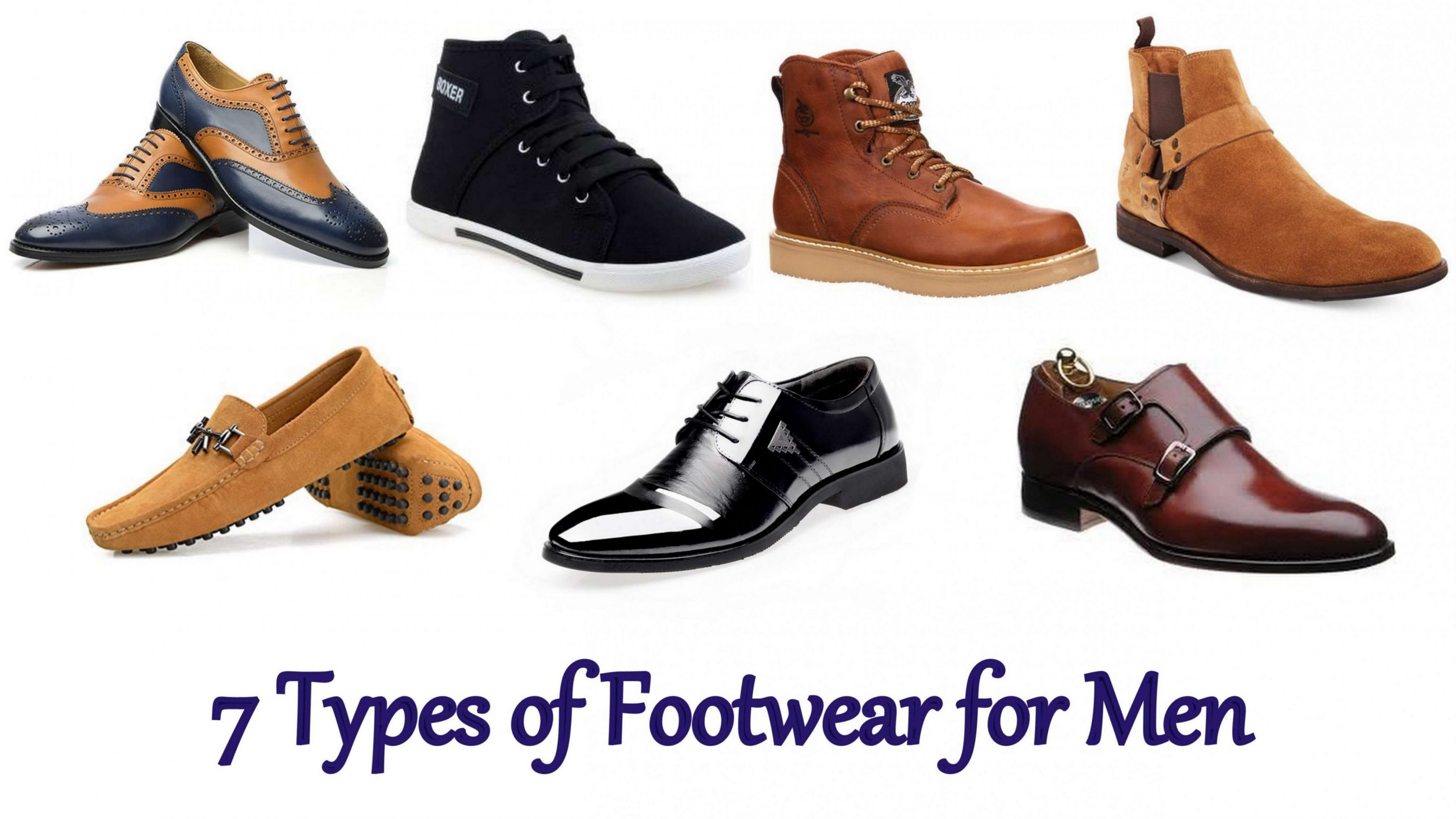 Different Types of Shoes for Men Online, List of different styles of shoes for men