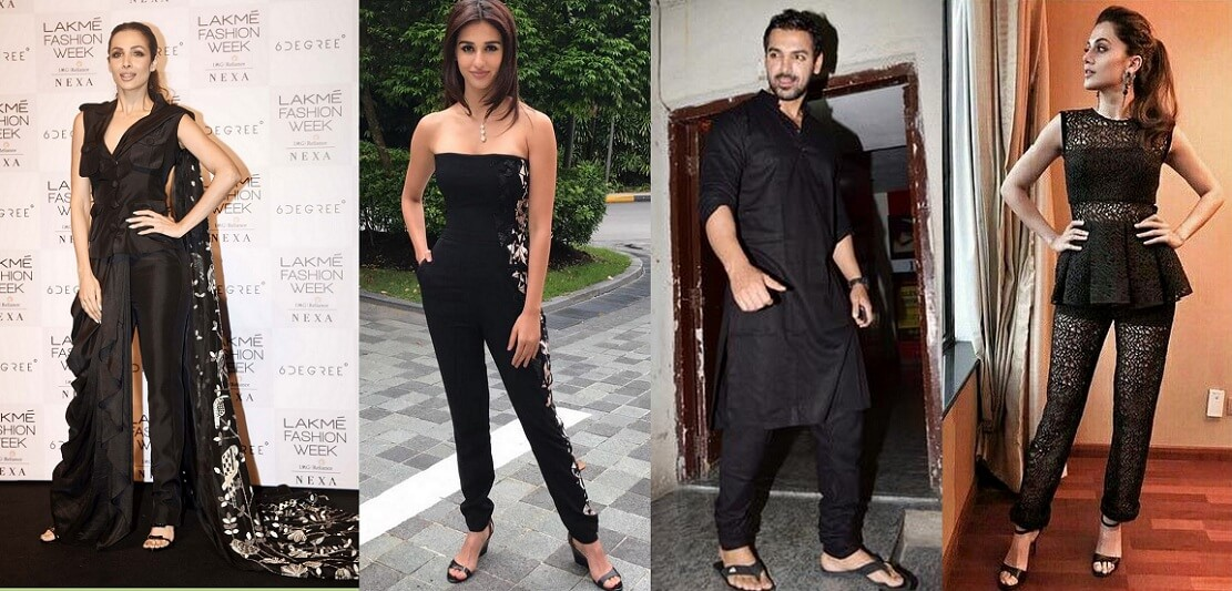 bollwood celebrities in black outfits