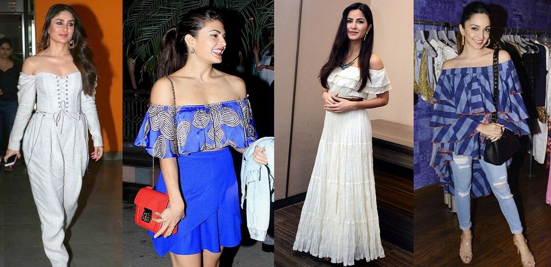 off shoulder dresses tops bollywood