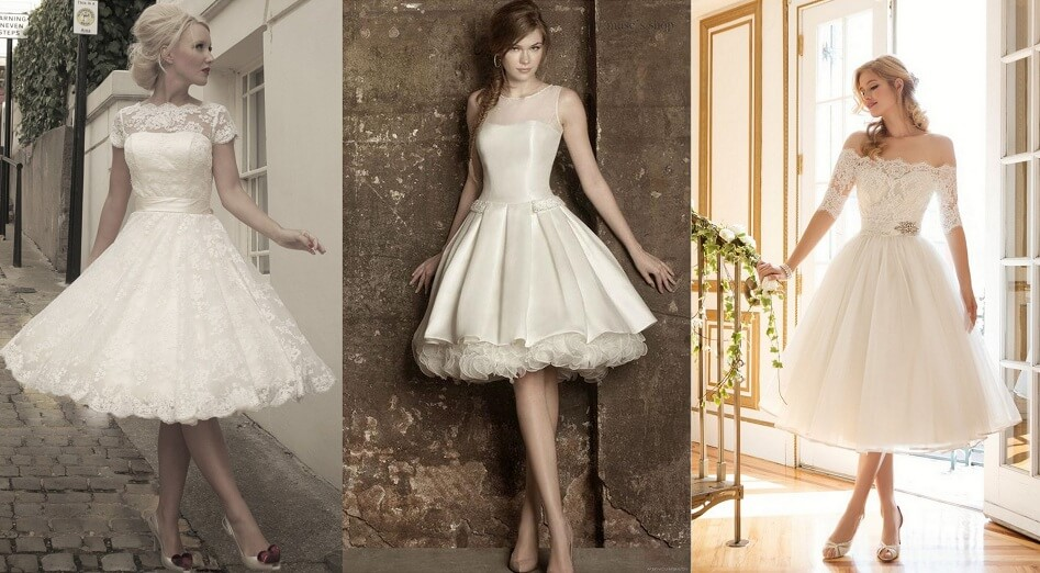 Mini wedding dresses
