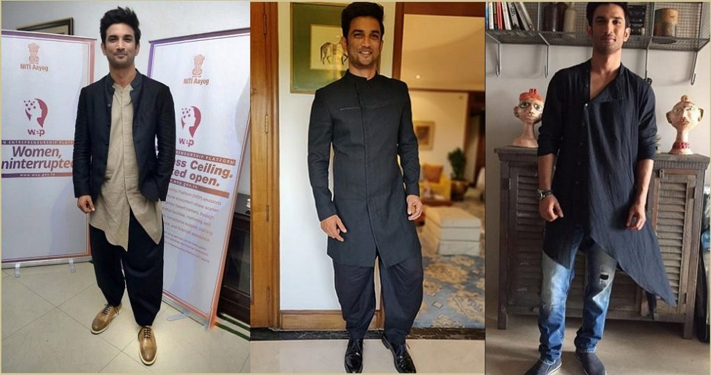 sushant singh rajput in ethnic outfit
